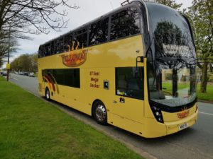 Photo of M90YEL Double deck bus with 87 seats