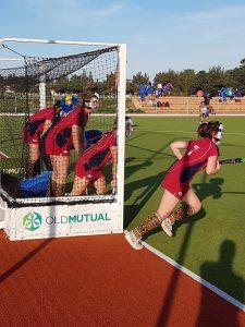 Rishworth Hockey Team warming up