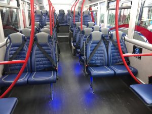 Yelloway Coaches 87 Seat Double Deck Bus lower level with 27 seats