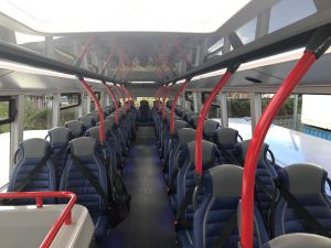 Yelloway Coaches 87 Seat Double Deck Bus upper level with 51 seats