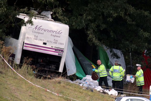 Merseyside Travel coach accident 2012